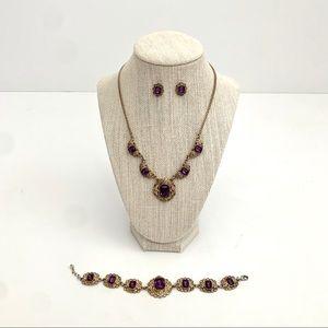 Antiqued Jewelry Set